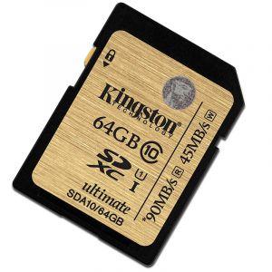 金士顿(Kingston)64GUHS-IClass10SD高速卡读90M/s土豪金