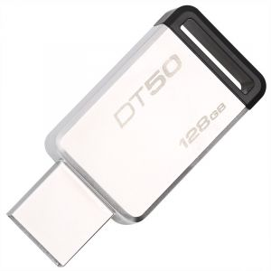 金士顿(Kingston)USB3.1128GB金属U盘DT50高速车载U盘黑色
