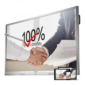 MAXHUB会议平板65英寸标准版电子白板视频会议交互式触摸一体机办公投影智能白板(65英寸单机+无线传屏器+移动支架)