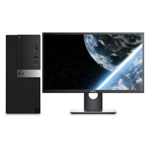 戴尔OptiPlex 3050 TOwer 003208 台式电脑(I5-7500/4GB/1TB+128G/DVDRW/WIN7专业版/23.8寸显示器