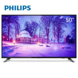 飞利浦(Philips)电视机50PUF6013/T350英寸4K超高清硬屏液晶电视机 支持有线/无线连接 3840*2160分辨率 LED显示屏 二级能效 含底座 包含挂架 包安装 一年保修黑色