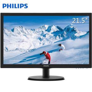 飞利浦(PHILIPS)223S5LHSB 21.5英寸液晶显示器 TN屏 1920×1080分辨率 HDMI/VGA接口 TFT-LCD面板 16:9屏幕比例 办公家用高清电脑显示器